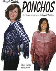Maggie's Crochet · Ponchos Crochet Pattern Leaflet