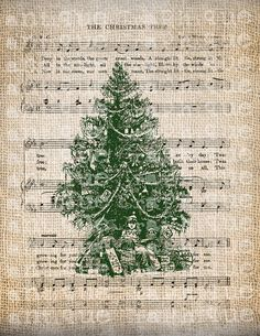 Antique SEPIA GREEN Ornate Holiday by AntiqueGraphiqueAged on Etsy, $1.00