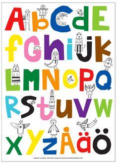 ABC affisch av Sissi Edholm & Lisa Ullenius