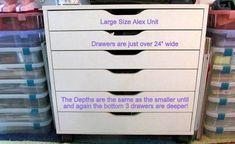 IKEA Alex dimensions