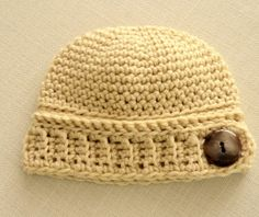 Beanie Mania on Etsy - All beanies just $8.50 - Twin Sets $16.00!  Newborn Baby Button Beanie  Neutral Color Beanie by MerryToppers, $8.50