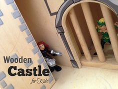 A #MelissaAndDoug medieval castle!  My boys love this wooden medieval castle!  Their action figures fit nicely inside and they can have lots of adventures. CLICK HERE TO SEE IT CLOSE UP!