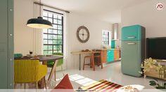 Archideco vous propose de découvrir une magnifique cuisine...  Lumineuse, fonctionnelle et familiale, craquez pour cette pièce hors du commun