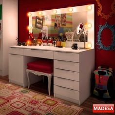Painel Espelho para Penteadeira Camarim - Madesa - Casa America