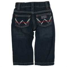 Wrangler Boys' Infant and Toddler Western Embroidered Jeans - Dark Stonewash -- Your lil buckaroo is going to look so cute in these Wrangler jeans! | SouthTexasTack.com