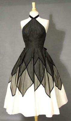 Vintage, love this frock. I would loose the collar though...never looked good on me!