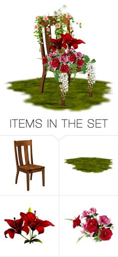 """chair of flowers"" by mzmaldita1376 ❤ liked on Polyvore featuring art"