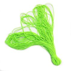 DIY Jewelry Making: Neon Green, Electric Green 5 yard Elastic Cords, for bracelets, charms, laces, DIY Jewelry Stringing Material * Check out this great item.