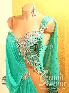 社交ダンスドレスのドレスネットアニエル / PL1485・緑