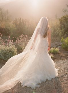 Stunning #veil portrait by Michael + Anna Costa Photography | See the wedding on SMP: http://www.stylemepretty.com/2013/12/17/ojai-wedding-at-red-tail-ranch/