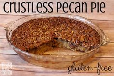 The Best Gluten-Free Pecan Pie Recipe Before my bariatric surgery, I loved pecan pie. It was my favorite pie ever, and I made a lot of them. And ate them. No holiday . Gluten Free Pecan Pie, Gluten Free Deserts, Gluten Free Sweets, Foods With Gluten, Gluten Free Baking, Dairy Free Recipes, Sugar Free Pecan Pie, Celiac Recipes, Gluten Free Pie Crust