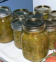 Amish Green Tomato Relish 2 quarts green tomatoes chopped 3 green peppers diced 5 large onions chopped fine 3 TBS salt Sprinkle  salt over chopped veg.…