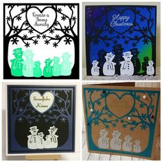 Create a Snowman Family Studio SVG FCM MTC Commercial on Craftsuprint - View Now!