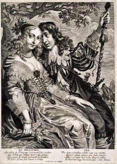 The Four Seasons; Le Printemps; Artist  Jeremias Falck, Published by Jean Leblond I 1639-1645