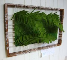 """Martina Celerin - """"Weaving allows me to incorporate objects, textures and… Tapestry Loom, Felt Leaves, Wool Art, Thick Yarn, Felting Tutorials, Weaving Art, Leaf Art, Weaving Techniques, Rug Hooking"""
