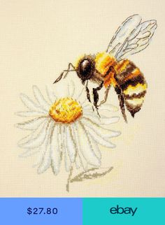 Excellent No Cost Cross Stitch bee Thoughts Cross-stitch is a simple form of needlework, well suited to the material available to stitchers toda Cross Stitch Tattoo, Cute Cross Stitch, Cross Stitch Bird, Counted Cross Stitch Kits, Modern Cross Stitch, Cross Stitch Flowers, Cross Stitch Designs, Cross Stitch Patterns, Cross Stitches