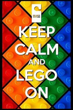 Keep calm lego on