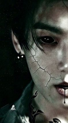 The rudest famous billionaire's in Seoul South Korea, BTS, come across a unique young boy named Jungkook, who becomes a bodyguard for them. Foto Bts, Foto Jungkook, Bts Bangtan Boy, Taehyung Fanart, Bts Taehyung, Bts Vampire, Bts Halloween, Bts Tattoos, Wattpad Book Covers