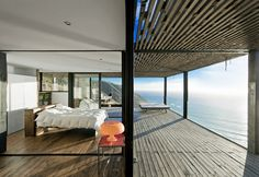 Bedroom with a view at CASA TILL BY WMR ARQUITECTOS, Los Arcos, Chile