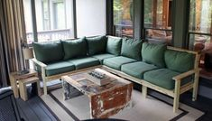 DIY Outdoor Sectional   55 Ingenious Backyard DIY Projects To Occupy You This Spring