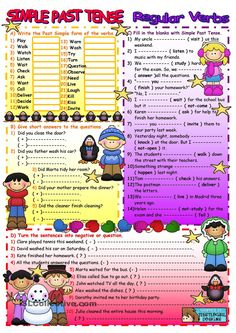 PAST SIMPLE REGULAR VERBS                                                                                                                            Más