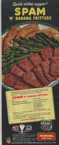 Spam 'n' Banana Fritters