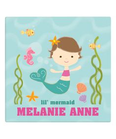 Look at this #zulilyfind! 'Lil' Mermaid' Personalized Wrapped Canvas by Personalized Planet #zulilyfinds
