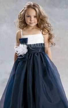 dresses night on sale at reasonable prices, buy Spaghetti Straps Navy Blue White Organza Princess Flower Girl Dresses for Weddings Party Evening Vestidos age from mobile site on Aliexpress Now! Flower Girls, Princess Flower Girl Dresses, White Flower Girl Dresses, Little Girl Dresses, Girls Dresses, Flower Children, Dresses 2016, White Flowers, Dresses Online