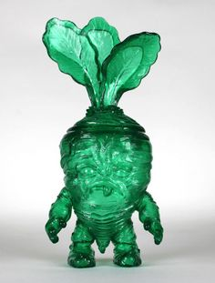 """Up for auction is the Sold Out """"Deadbeet Gummy Green Clear Version"""" Kaiju Vinyl Art Figure by artist toy designer, Scott Tolleson . Limited edition of only 30 made sold out immediately!"""