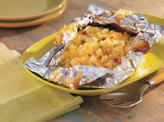 Grilled Savory Cheese Potatoes