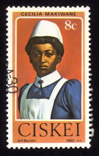 Postage stamp honoring nurses, South Africa
