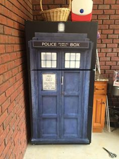 Click on the image to order your Tardis Refrigerator wrap, Sticker, black, blue, Police – Rm wraps Store