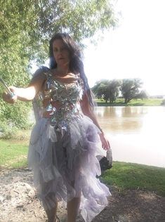 Wedding dress, alternative wedding, cosplay dress, ice queen, beaded top, fantasy wedding, bridal, lilac color, silver, irridiscent, hearts