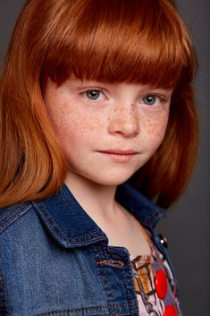 KIMBERLEY GORE - PHOTOGRAPHYED BY BRIAN ROLFE   Children's photography Child model Redhead Ginger Gorgeous girl  Head shot Photoshoot Ray and Robin