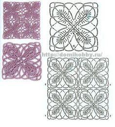 Vari motivi con fiori da comporre centri, coperte e trittici...