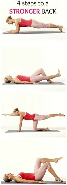 Tone up with these 4 Simple Steps to a Stronger Back. Do these exercises, from physical therapist Renée Garrison, for five minutes a day to help ward off low back pain.