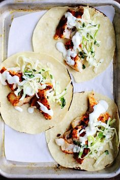 1837 - SPICY FISH TACOS WITH CABBAGE SLAW & LIME CREMA RECIPE