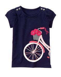 PRETTY POPPY Bike Bouquet Tee (Sz 7)