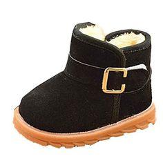 96276ff59ce0e LONUPAZZ Neige Bottes Chaudes Hiver Enfant Coton Chaussures BéBé Fille  Hiver (1-3 Ans)
