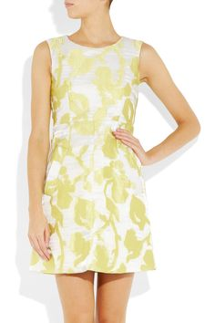 Diane von Furstenberg|Carpreena Mini Rose jacquard dress|NET-A-PORTER.COM  €533
