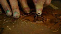 Very useful video showing how to register paper when lino printing.