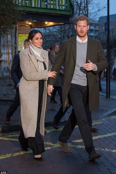 The bride-to-be sported black wide-legged Burberry trousers when she visited Reprezent FM ...