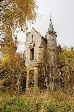 Itty bitty abandoned castle. Cool