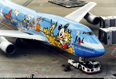 JAL Disney dream express Boeing 747-446D aircraft picture