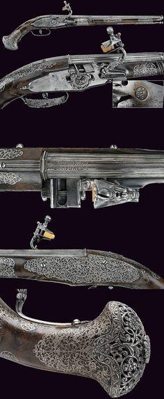 A beautiful pair of wheel-lock pistols by Giovan Antonio Gavacciolo, dating: second quarter of the 17th Century provenance: Brescia