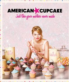 C'mon! how sexy is this Ad for American Cupcake. To top it off American Cupcake makes cute, sweet adorable looking cupakes!