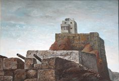 Local Color, 1967,  Samuel Bak,  Oil on canvas  24x36 cm.  Collection of the artist