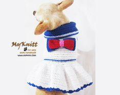 Dog Tutu Dresses Christmas Sexy Hand Crochet Teacup by myknitt