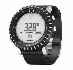 Suunto Core Light Black mit Kunststoffgehäuse, Aluminium-Lünette und Elastomer-Armband mit Bügeln :: http://www.reviwell.at/de/fitness/fitness-suunto-puls-outdoor-watches/core/suunto-core-light-black.html