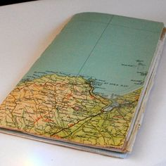 vintage map journal St Ives Cornwall by NaturallyHeartfelt on Etsy, £14.00